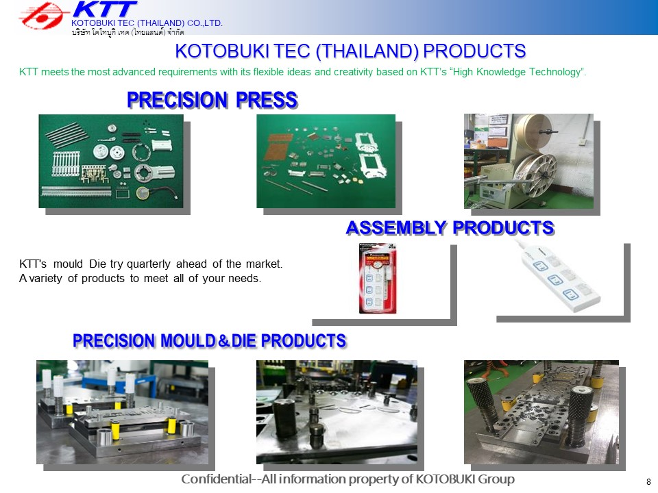 International Export & Import - Kotobuki Tec (Thailand) Co ,Ltd